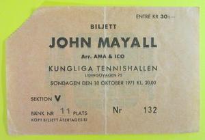JOHN MAYALL - Stockholm 1971