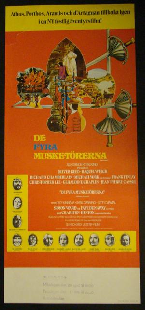 DE FYRA MUSKETÖRERNA (OLIVER REED, RAQUEL WELCH,RICHARD CHAMBERLAIN, MICHAEL YORK, FRANK FINLAY)
