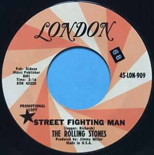 ROLLING STONES - Street fighting man USA PROMO 45 1968