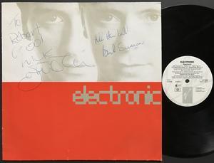 "ELECTRONIC - ""same"" 1991 SIGNED LP"