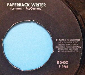 "BEATLES - Paperback writer 7"" English credits Swe PS 1966 M-!"