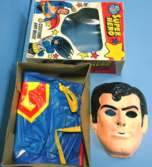 SUPERMAN - Costume and mask 1960´s in BOX