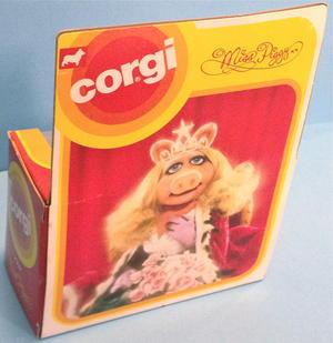 MUPPARNA - Miss Piggy Corgi toys bil 1970-tal i KARTONG