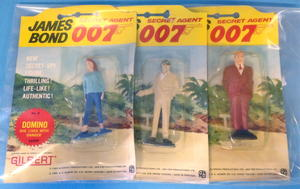 JAMES BOND 007 - Plastfigurer i blisterpack Portugal 1965 - 3st