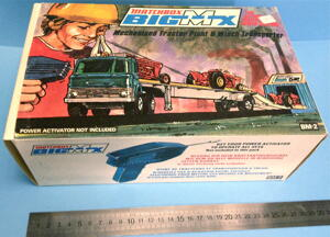 MATCHBOX Big MX - Mechanised Tractor plant and Winch transporter 1972 in BOX