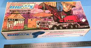 MATCHBOX Big MX - Construction site & Crane truck 1972 i 1972 in BOX
