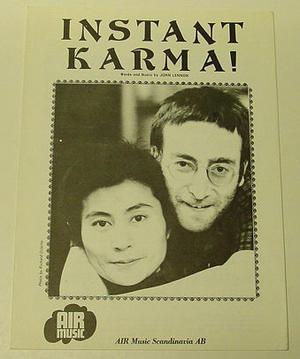 John Lennon / Yoko Ono - Instant Karma Nothäfte 1970