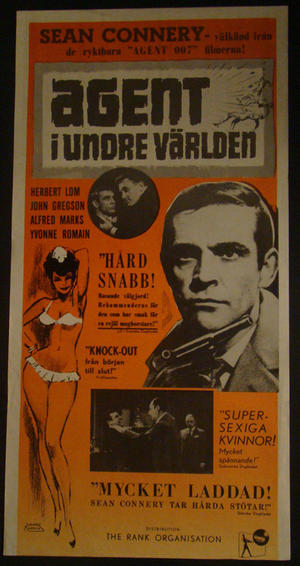THE FRIGHTENED CITY (SEAN CONNERY, HERBERT LOM,JOHN GREGSON, ALFRED MARKS, YVONNE ROMAIN)