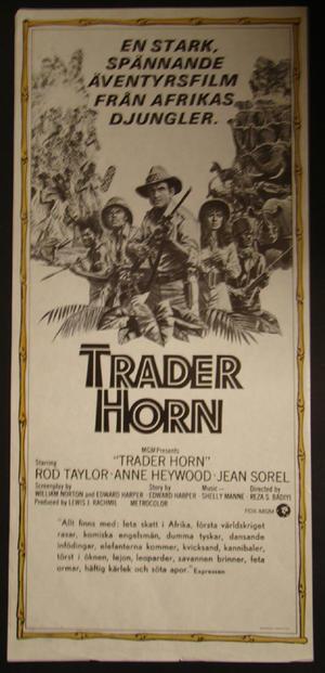 TRADER HORN (ROD TAYLOR, ANNE HEYWOOD,J EAN SOREL)
