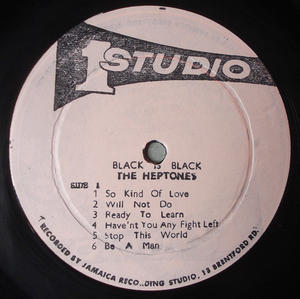 HEPTONES - Black is black LP Jamaica 1970´s original!