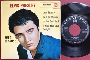 ELVIS PRESLEY - Just because +3 Tysk EP 1959