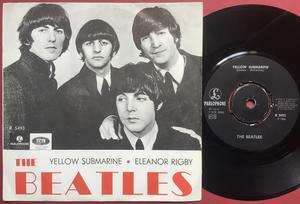"BEATLES - Yellow Submarine 7"" Swe 1966 Very rare RED PS M-!"
