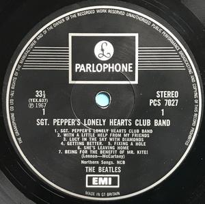 BEATLES - Sgt Peppers FELTRYCK etiketter UK LP 1967
