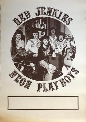 RED JERKINS (early 1970´s)LP Promo poster