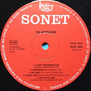 "BEEFEATERS - ""same"" Dansk-orig LP 1967"