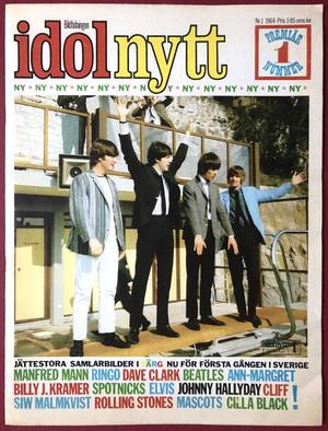 IDOLNYTT - No 1 1964 BEATLES cover FIRST issue