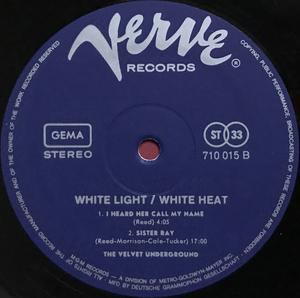 """VELVET UNDERGROUND - White light/white heat """"SKULL-cover"""" Ger-orig LP 1968"""
