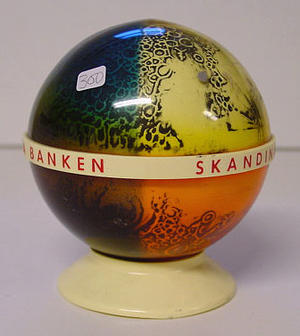 Money Box Skandinaviska Banken in Sweden