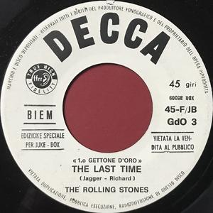 ROLLING STONES - The last time / Lady Jane Italy Jukebox PROMO 45 1966