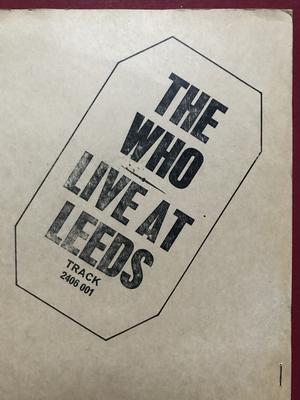 WHO - Live at Leeds UK-orig SVART logo LP 1970