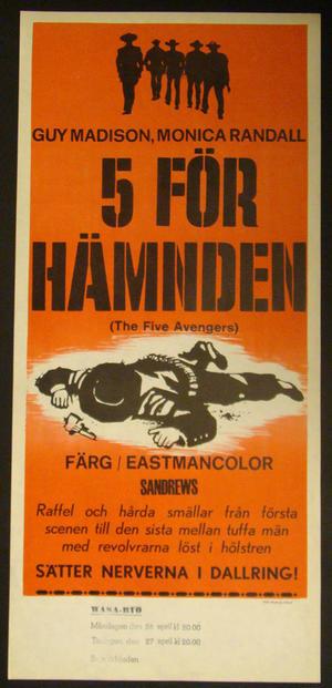 THE FIVE AVENGERS (GUY MADISON, MONICA RANDALL)
