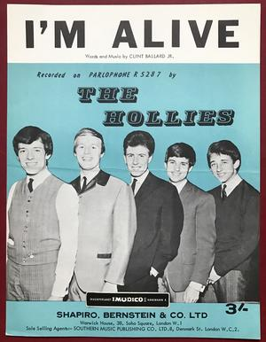 HOLLIES - I´m alive USA Nothäfte 1965