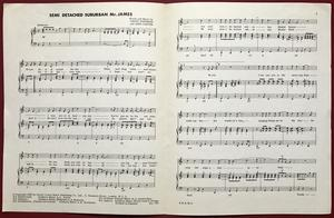 MANFRED MANN - Semi-detached suburban Mr. James Sheet music 1966