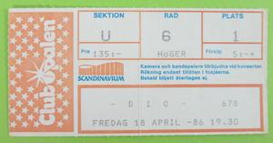 DIO - Göteborg 1986