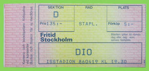 DIO - Stockholm 1986