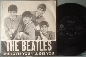 """BEATLES - She loves you 7"""" Danmark 1963 PS"""
