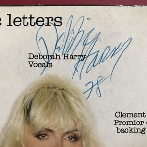 BLONDIE - Plastic letters SIGNED LP 1978