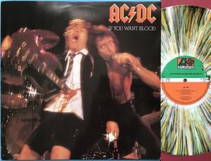 AC/DC - If you want blood.. Holl-orig MULTIFÄRGAD vinyl LP 1978