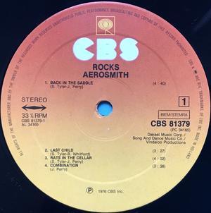 AEROSMITH - Rocks SIGNERAD Holl-orig LP 1976
