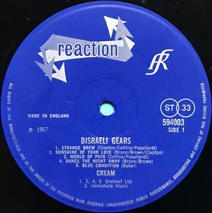 CREAM - Disraeli gears UK-orig stereo LP 1967