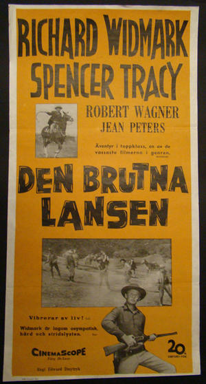 DEN BRUTNA LANSEN (RICHARD WIDMARK, SPENCER TRACY, ROBERT WAGNER,  PETERS)