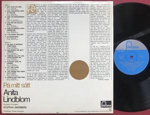 ANITA LINDBLOM - På mitt sätt Svenska folkvisor Swe-orig LP 1965
