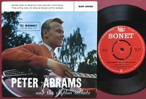 PETER ABRAMS & THE RHYTHM ROCKETS - Maybe baby +3 Dansk EP 1958