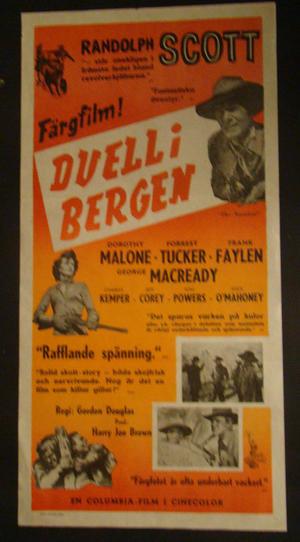 DUELL I BERGEN (RANDOLPH SCOTT, DOROTHY MALONE, FORREST TUCKER)