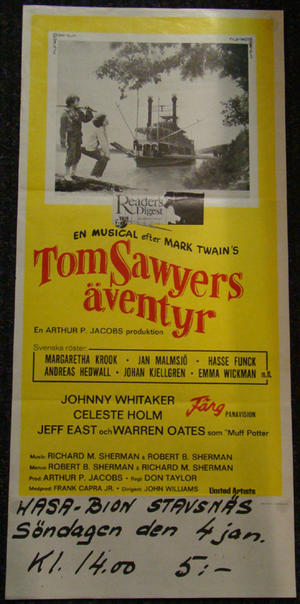 TOM SAWYERS ÄVENTYR (JOHNNY WHITAKER)