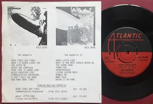 LED ZEPPELIN - Whole lotta love Swe PS 1969