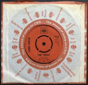 LORD SUTCH - The cheat / Black and hairy UK 45 1966